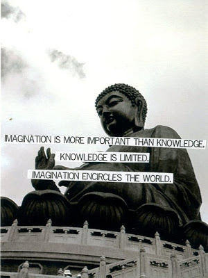 Inspirational Buddha Quotes on Imagination, Knowledge and World