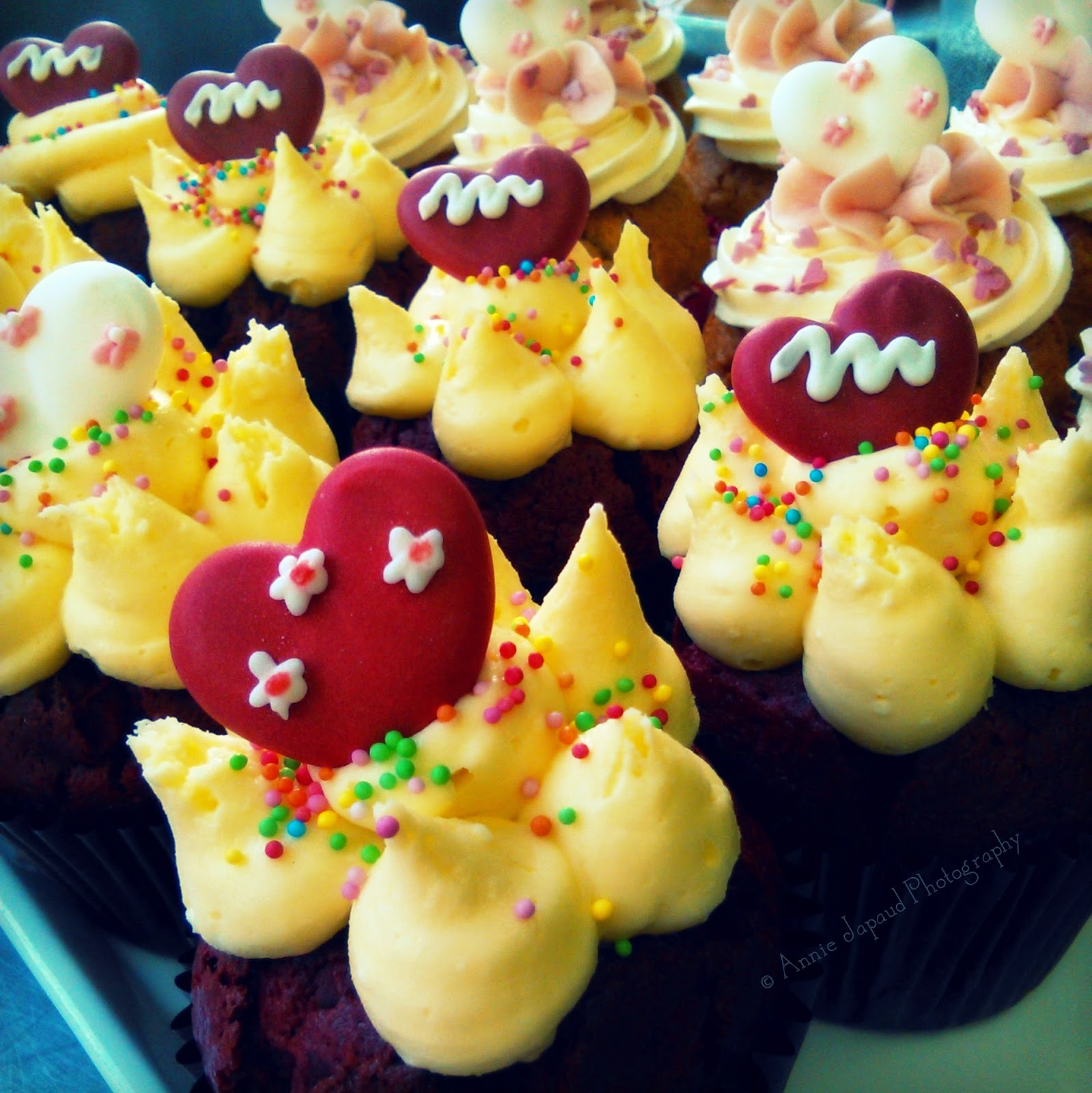 image of cupcakes with lovely colourful decoration