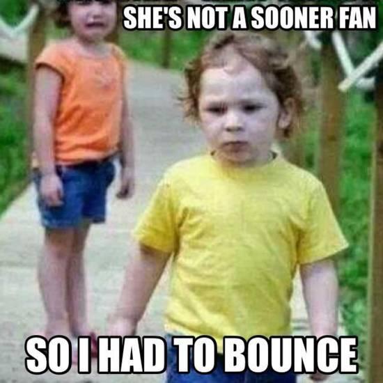 ou kid bounces bedlam ou osu memes soonersblog com