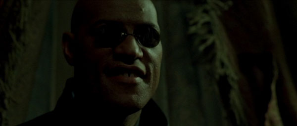 Lawrence Fishburne as Morpheus in The Matrix