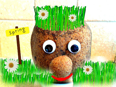 Mr Grasshead with Grass