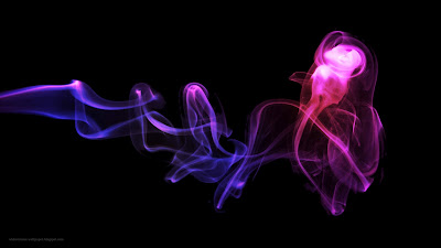 Purple And Pink Smoke Design Wallpaper - Purple Wallpaper