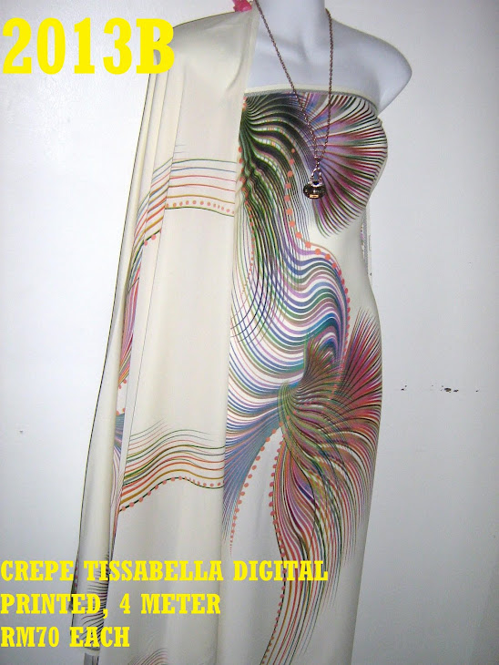 CTD 2013B: CREPE TISSABELLA DIGITAL PRINTED, EXCLUSIVE DESIGN, 4 METER