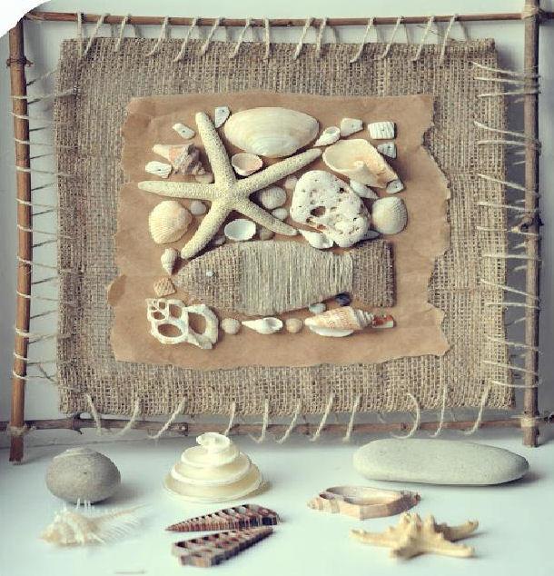 Haz un cuadro marinero con recuerdos de la playa - Cuadros hechos con piedras de playa ...