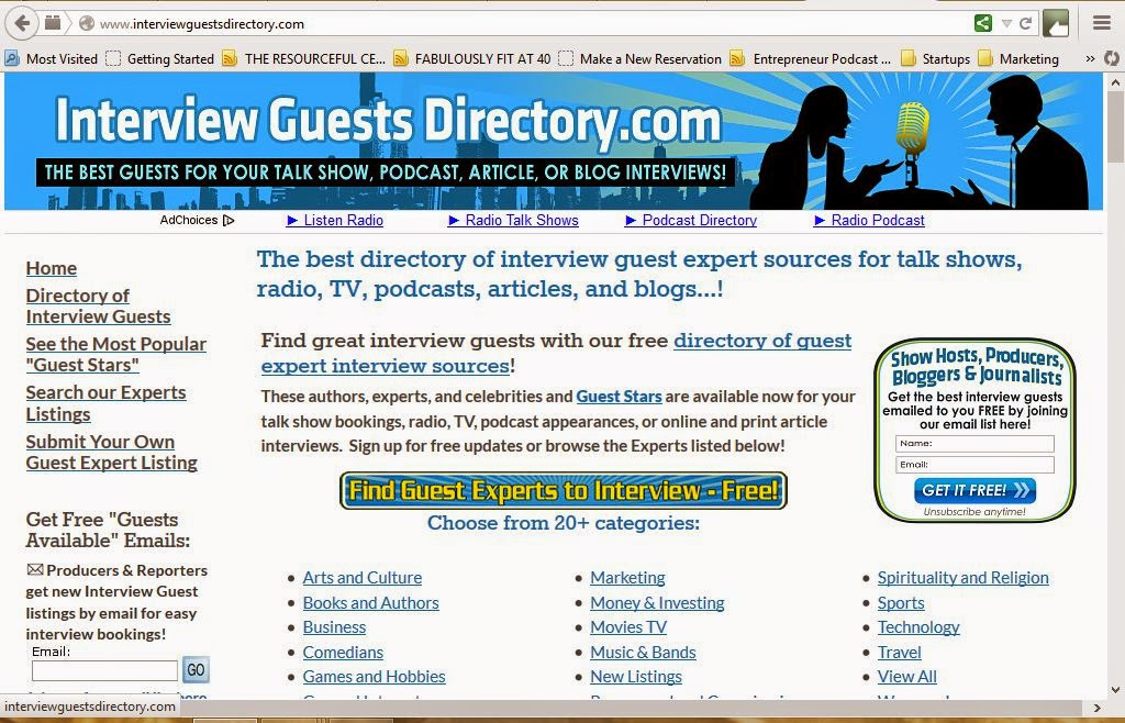 http://www.interviewguestsdirectory.com/