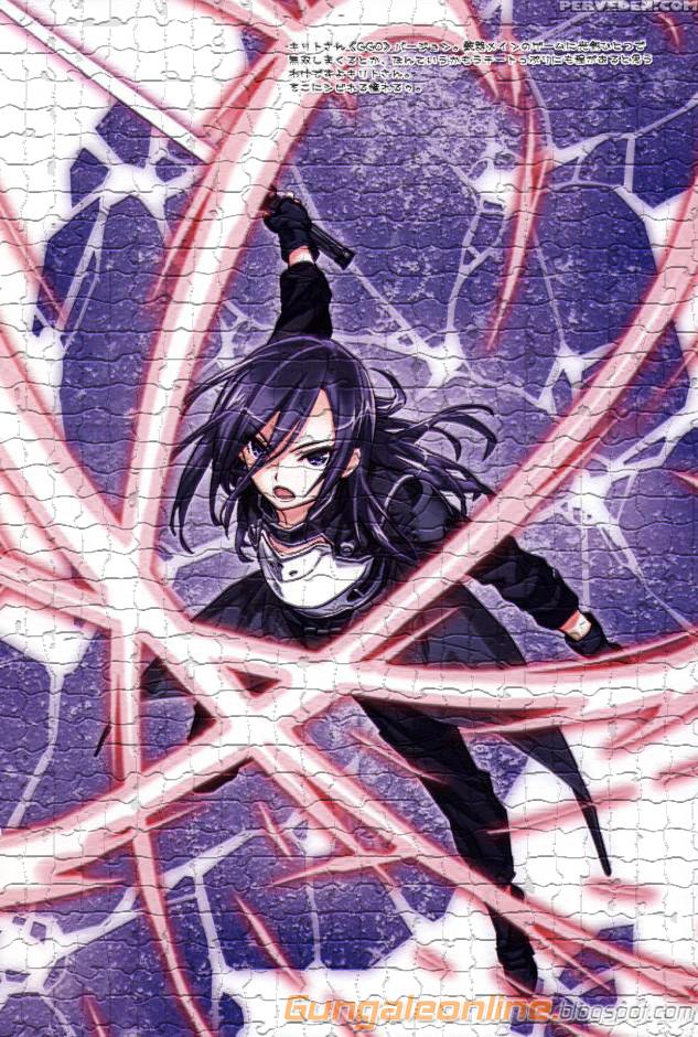 Kirito Gun Gale Online Mosaic Tiles Effect smartphone wallpapers ~ Gun ...