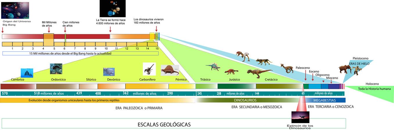 las eras geologicas caracteristicas y evolucion dela vida