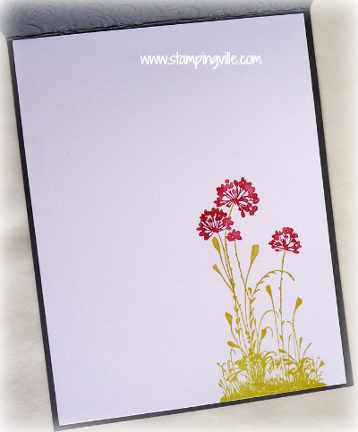 Birthday Silhouette Card - Inside