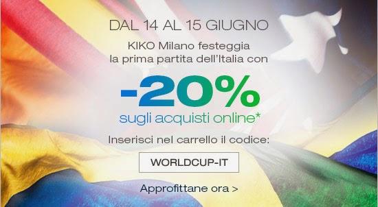 KIKO - Sconti per i Mondiali di Calcio 2014: -20% su tutto!