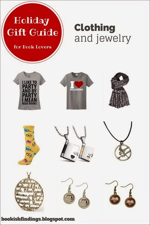Holiday Gift Guide for Book Lovers - Clothing and Jewelry