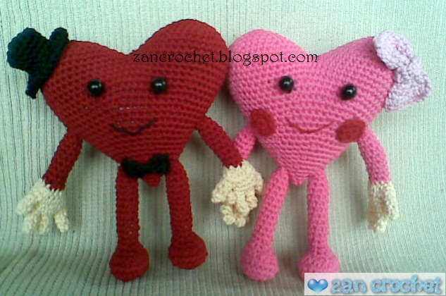 Valentine Heart Couple Zan Crochet