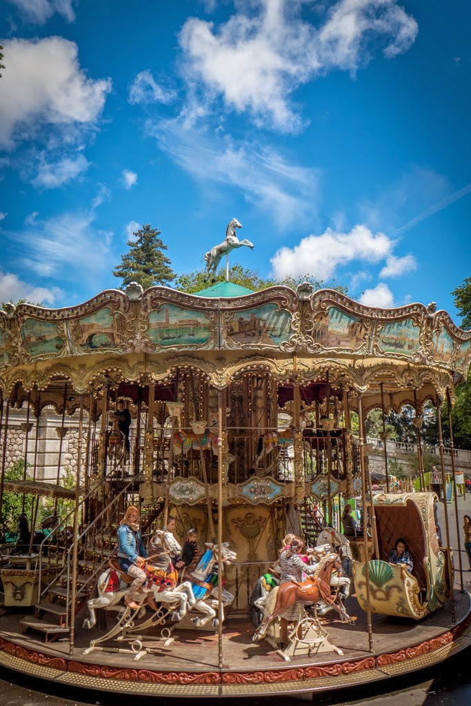Paris France Montmartre carrousel