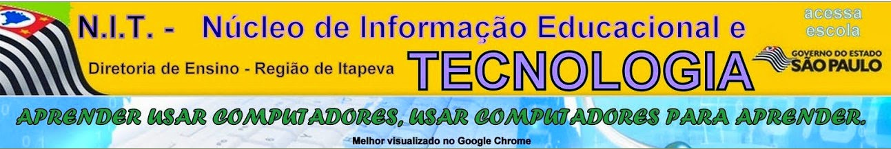 Núcleo de Tecnologia Educacional - Diretoria de Ensino Região de Itapeva