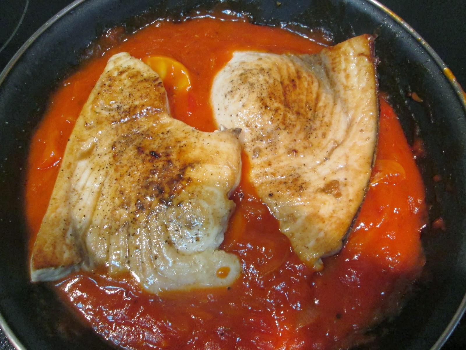 Cocina f cil de olletas pez espada en salsa provenzana for Pez espada en salsa de almendras