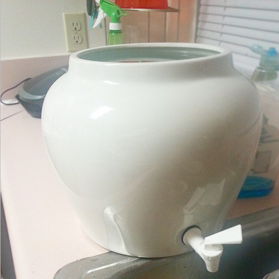 $3 water crock - my first tiny house purchase