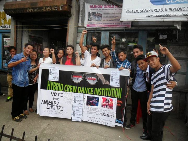 Hybrid Crew Dance Institution Kurseong appeals vote for Anushka Chhetri