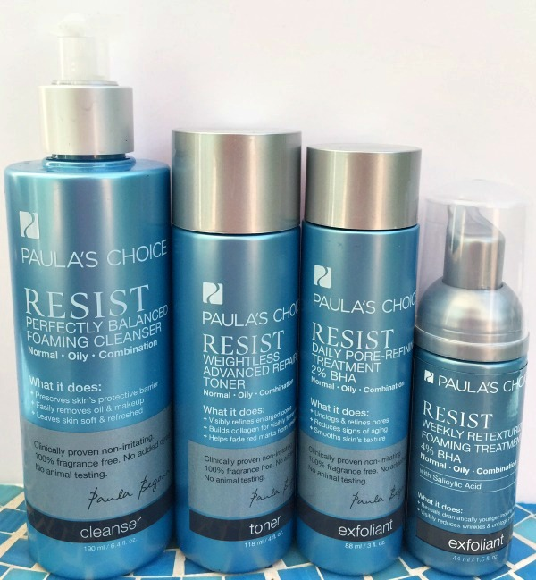 Paula's Choice Resist skincare before and after