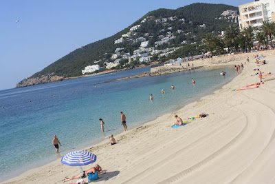 Santa Eulalia des Riu beach in Ibiza