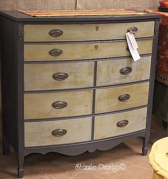 Rich Slate Dresser Dry Brushed Shizzle Style — Shizzle Design