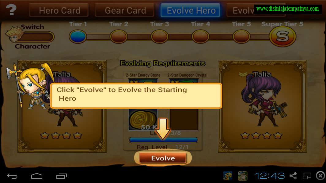 Evolve Hero - Hero Game
