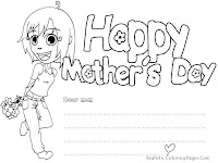 Mother's Day Coloring Cards