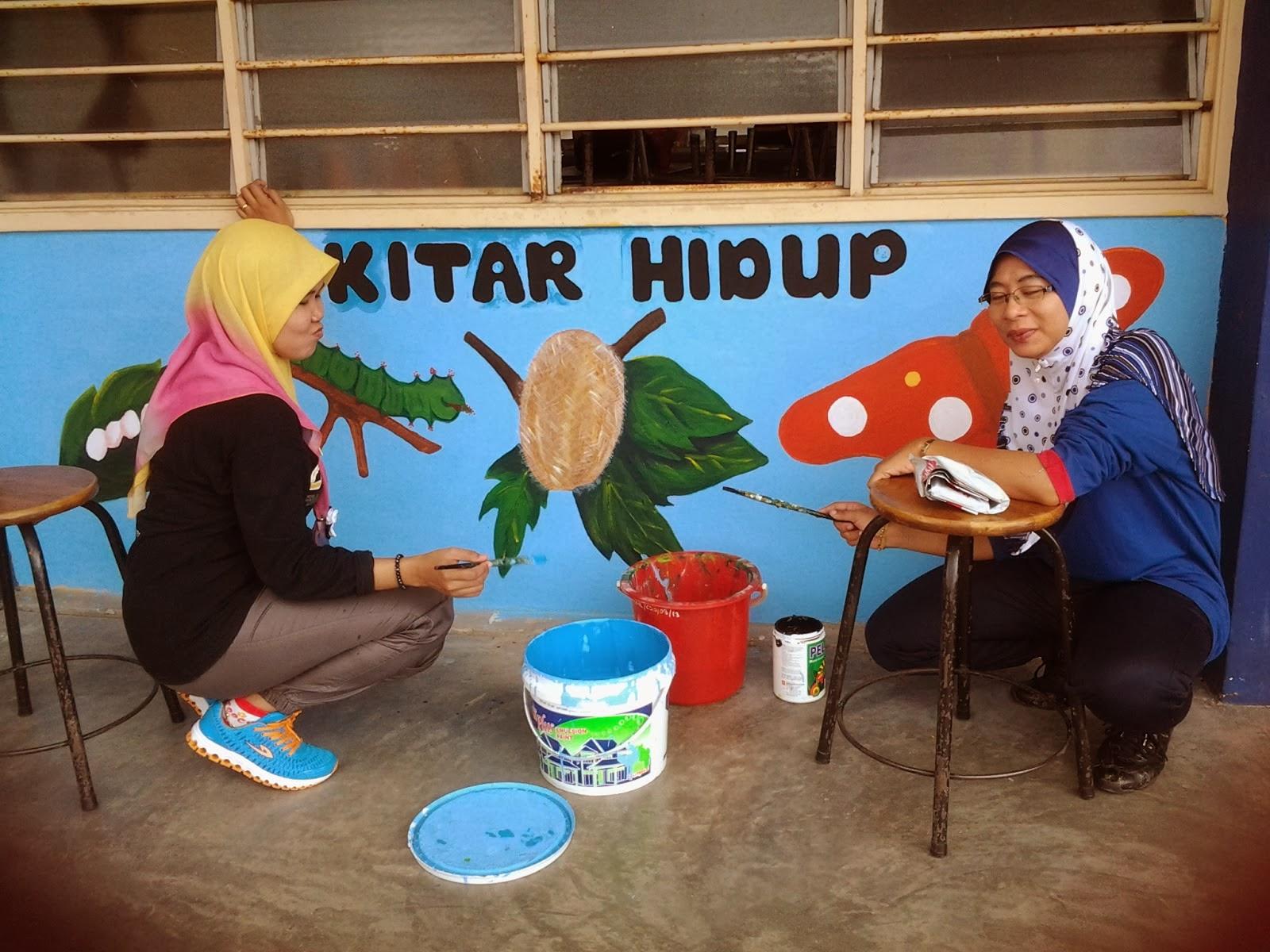 Aktiviti melukis mural