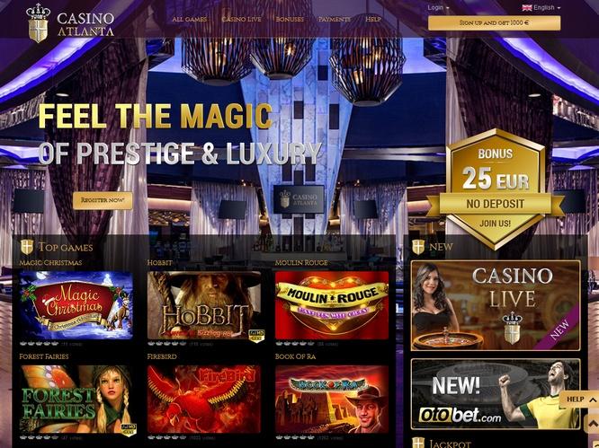 казино атланта бонус