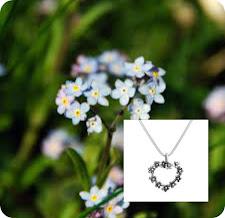Guldvivas fina förgätmigej-smycke: