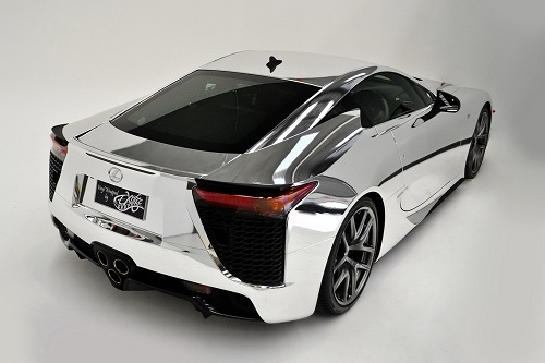 First-chrome-wrapped-Lexus-LFA