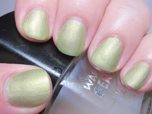 toning the metallic look down with matte topcoat
