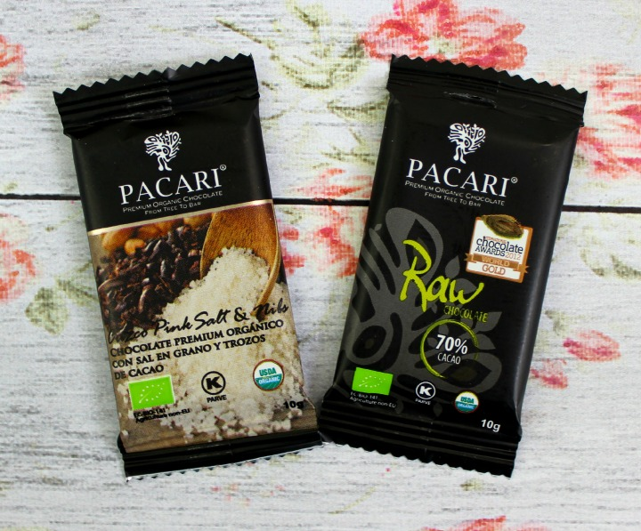 PACARI CHOCOLATE PINK SALT & NIBS and RAW CHOCOLATE 70%
