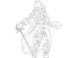 Davy Jones Coloring Pages