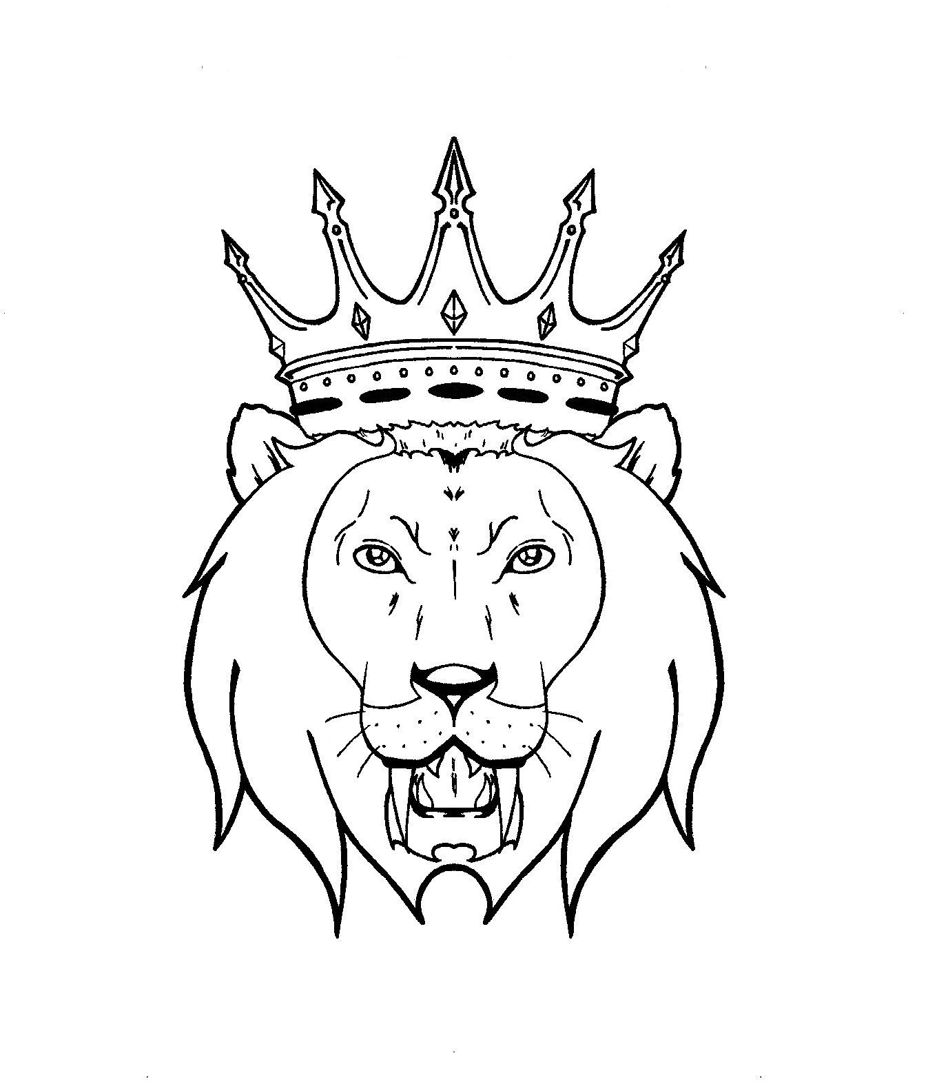 The Awesome Lion Tattoo Design Photograph