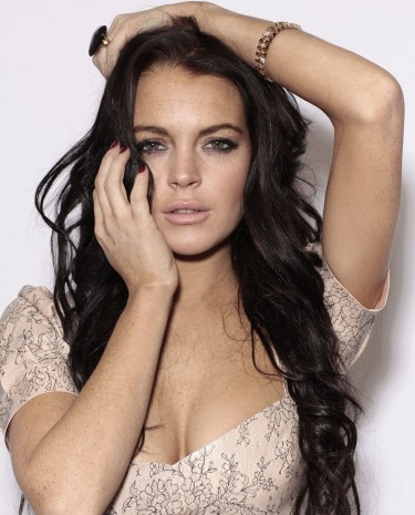 Lindsay Lohan Very Very Hottest Black Hair Pictures 2011