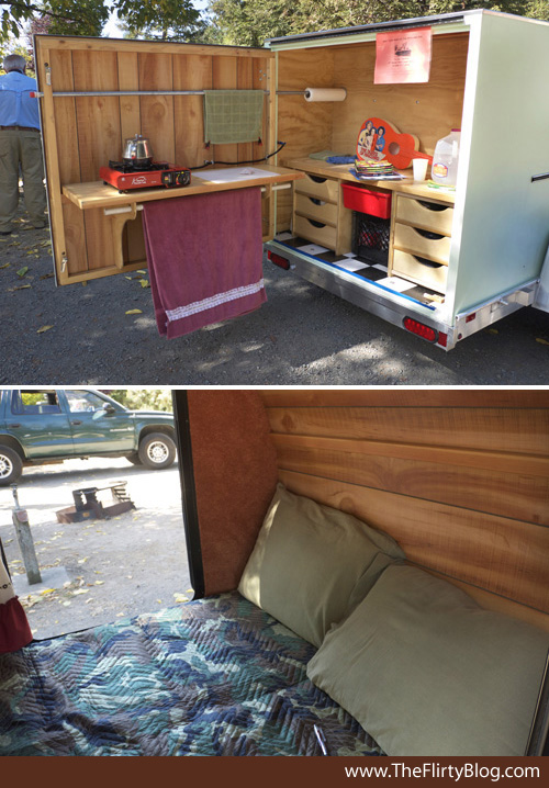 Teardrop on pinterest teardrop trailer teardrop campers for Converting galley kitchen to open kitchen
