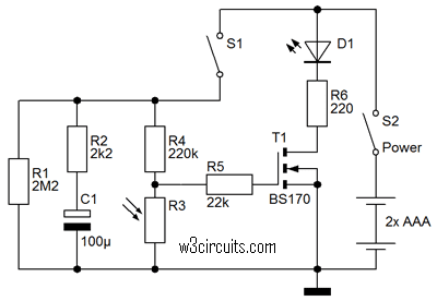 Auto LED Circuit Diagram