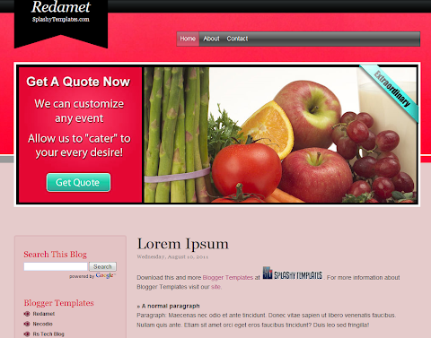 Redamet Blogger Theme