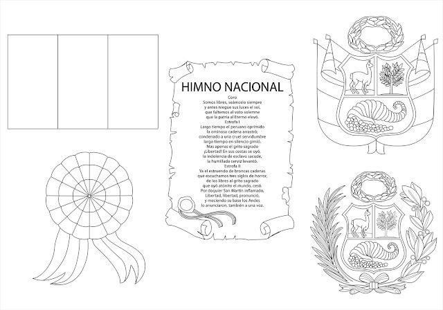 Simbolos patrios de Perú para colorear - Imagui