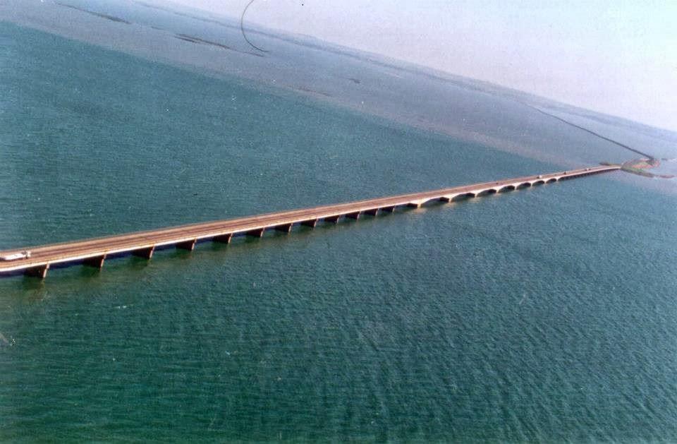 A ponte após a formação do lago