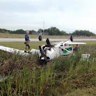 Plane Flips Over At Merritt Island Airport