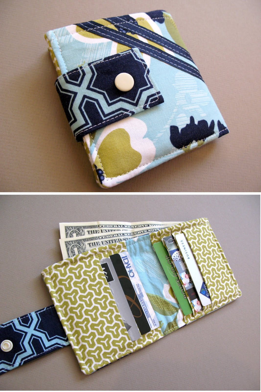Modest maven bi fold wallet tutorial i wanted a wallet that carried a lot of cards with no risk of them sliding out as you can see the card slots face inward which means your cards will stay jeuxipadfo Image collections