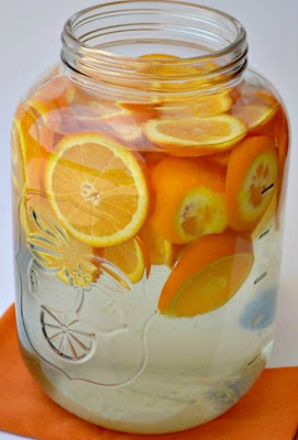 Resep infused water jeruk mandarin