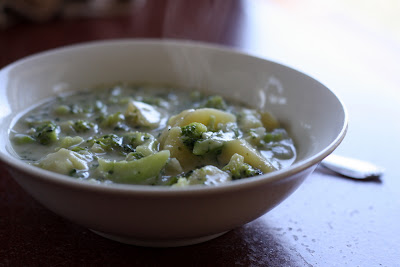 Jennifer murch cheesy broccoli potato soup