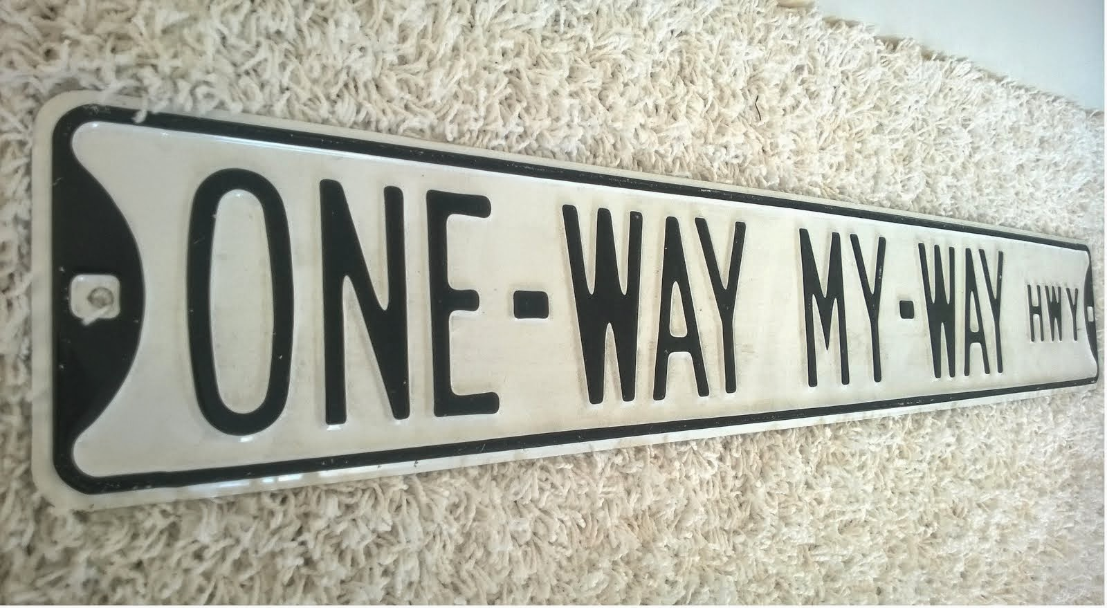 ONE-WAY MY-WAY
