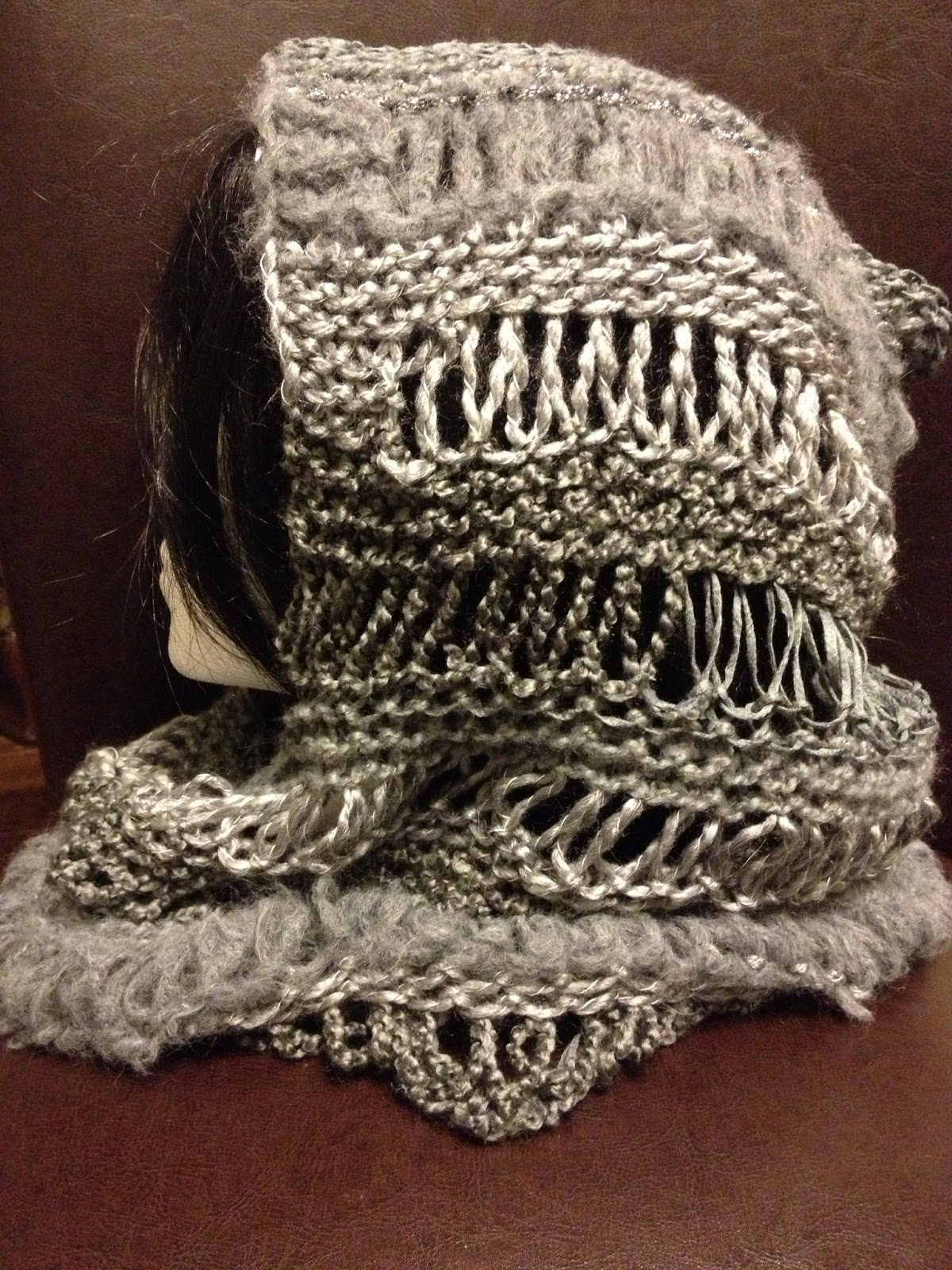 Charitys Loom Knits: Changes Hooded Cowl