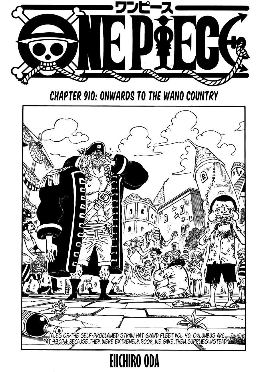 One Piece Chap 910 - Trang 1