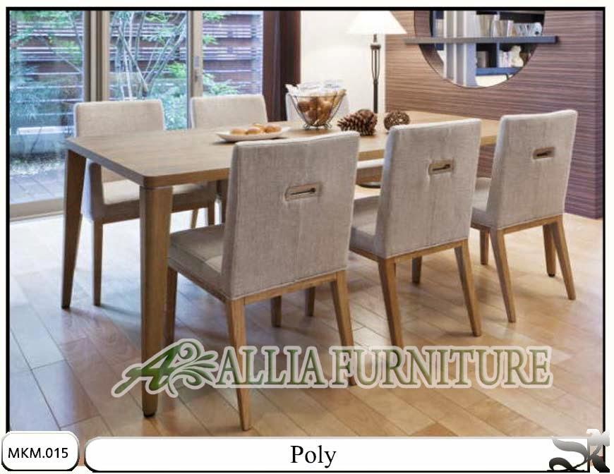 set meja makan minimalis dan kursi poly