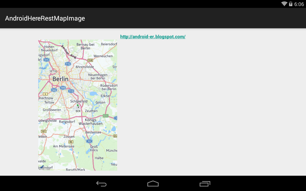 Load Hither Map Image, Using Residual Api