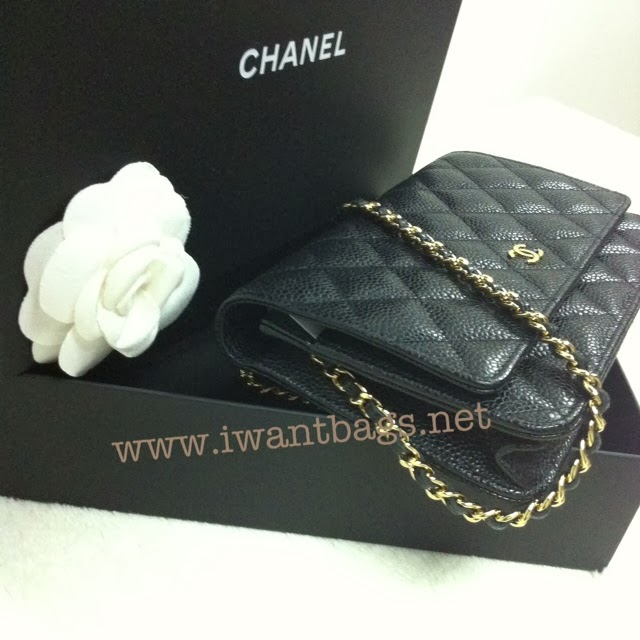 Chanel classic quilted woc caviar ghw in black