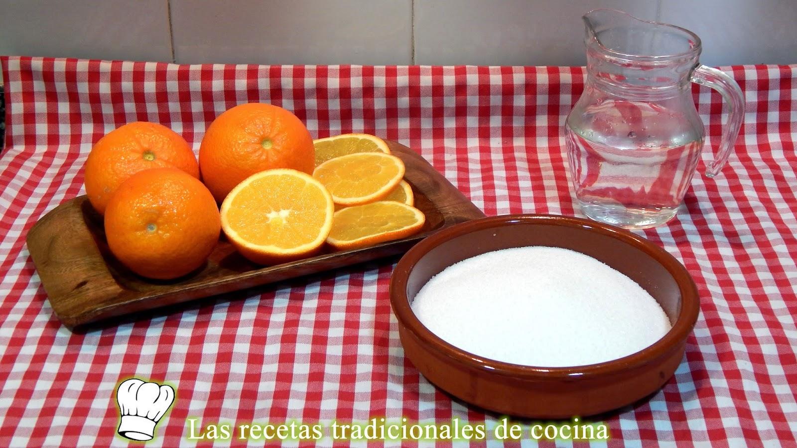 Receta de la naranja confitada